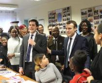 Visite du Président Macron à l'association le 4 février 2019!