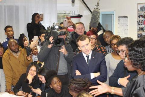 Mercredi 4 février,  visite surprise du Président Macron à l'association!